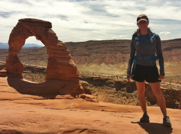 Hiking and running at Arches National Park